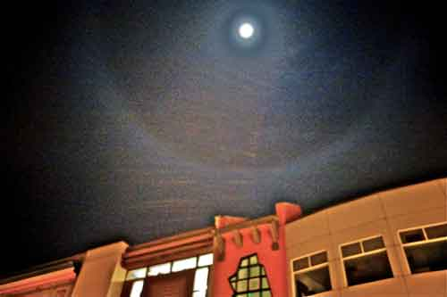 "Moon over Telegraph, X-Mas Eve, was called a ""halo-moon."" Its significance was noticed."