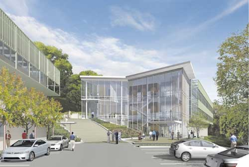 Lawrence Berkeley National Laboratory wants to consolidate lab operations now in West Berkeley with other research in this proposed new General Purpose Laboratory building above Strawberry Canyon.
