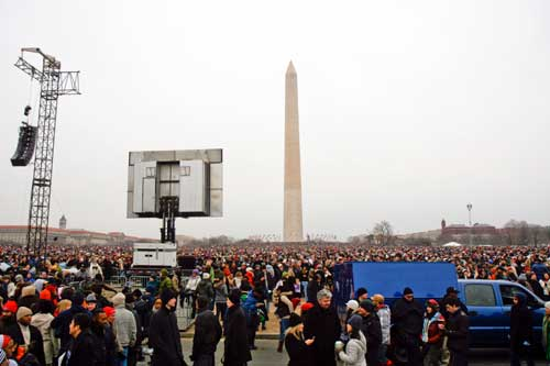 More than a million people came to the National Mall in Washington, D.C., on Tuesday to witness the inauguration.