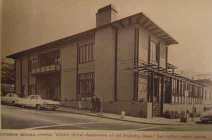 The YWCA on Bancroft and Bowditch was completed in 1959.