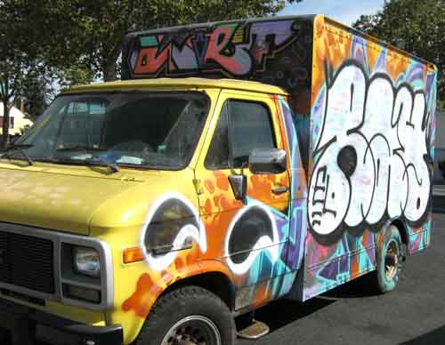 Trucks are perfect rolling stock for urban artists.
