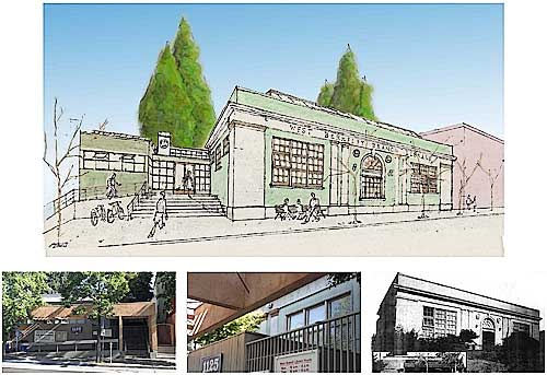 West Berkeley Library Design: View of University St. Entrance