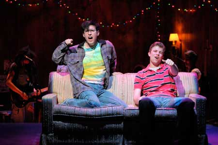 (l to r) Ryder Bach and Jason Hite star in the world premiere of Girlfriend, a new musical at Berkeley Rep wound around the tender love songs of Matthew Sweet's landmark album, playing thru May 9.