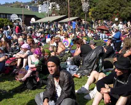 The crowds were treated to music and food at People's Park for its 40th anniversary.