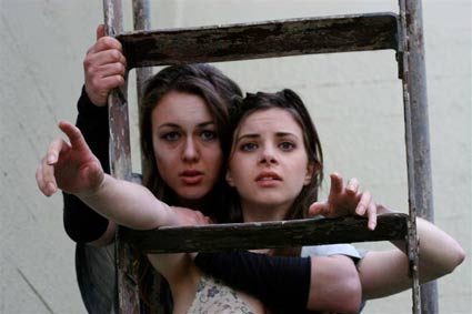 Kate Jepson and Sarah Rose Butler in TERRORiSTKA playing through May 16 at Berkeley City Club