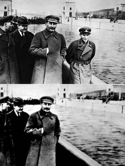 The disappearing Nikolai Yezhov, after Stalin purged his secret police chief.