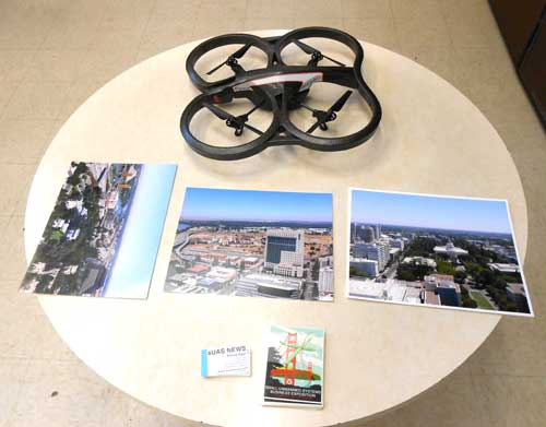 UAVSI drone on display at hearing