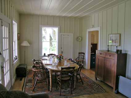 The dining room retains much of its original flavor.