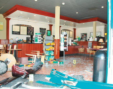 Richard Brenneman: The Starbucks Coffee on Solano Avenue was a mess Tuesday after a man drove his SUV through the front doors.