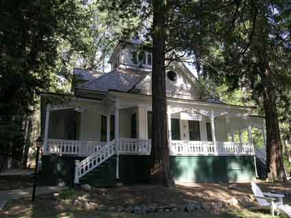 "Built in 1894, ""Little Brown"" was renamed Moore Cottage for Galen Clark's partner, Edwin Moore."