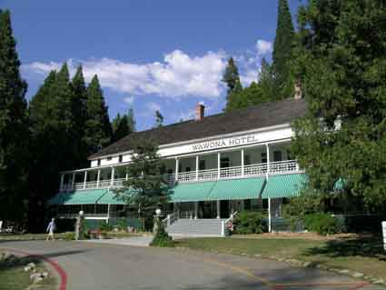 The main building of the Wawona Hotel opened in April 1879.