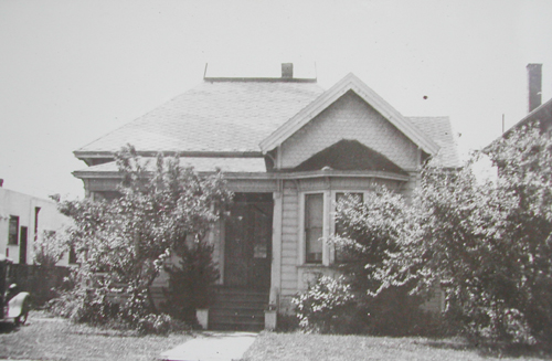 Henry and Caroline Peterson's home at 2222 Dwight Way in 1886.