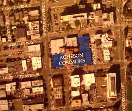 The proposed Acheson Commons project would cover about 2/3s of the block
