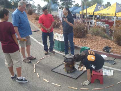 LBNL Researchers demonstrated a simple, efficient, stove designed for use in