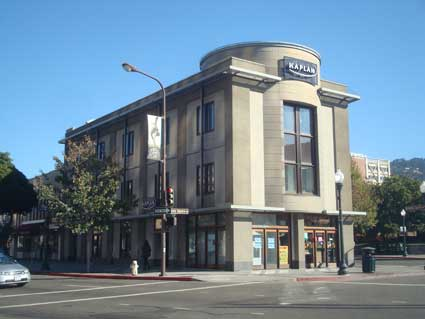 On a third corner of Shattuck and Center the Kaplan Building currently