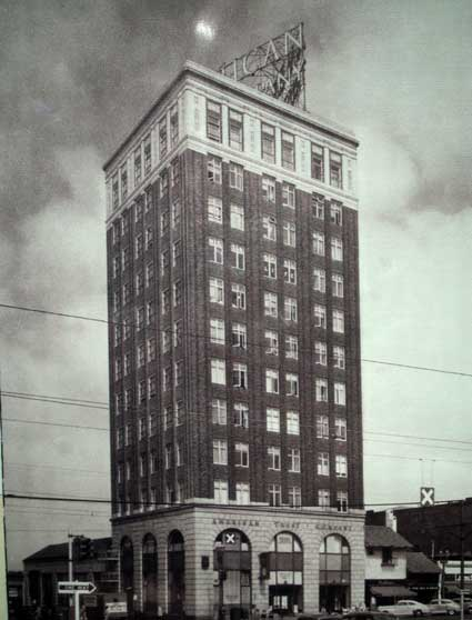 A 1940s photo displayed at the entrance of what's now Berkeley's old