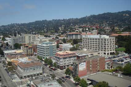 The view towards the northeast Berkeley Hills from the approximate