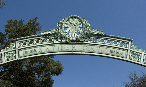 Sather Gate should be back in place by April after undergoing extensive repairs.