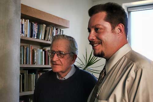Media critic Noam Chomsky and film director Jeff Warrick.