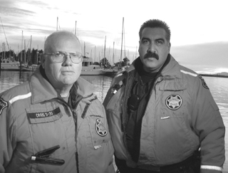 Sgt. Guy Craig and Officer Ed Galvan protect boaters and enforce the rules of the sea for the     Berkeley Police Department as part of the maritime security program