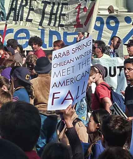 """Arab Spring, Chilean Winter, Meet The American Fall."""