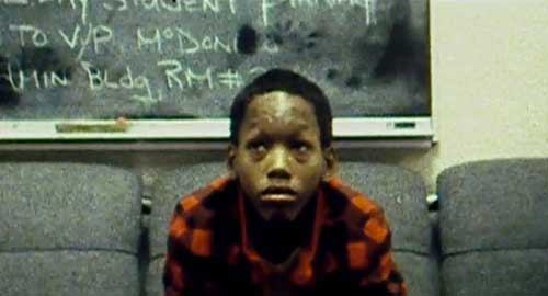 Korey Wise, a child forced to confess to a crime he did not commit.