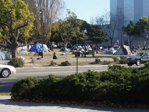 From old city hall, Thursday. If these tents aren't out by 10 p.m., park curfew, then what?